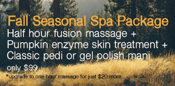 fall seasonal spa package